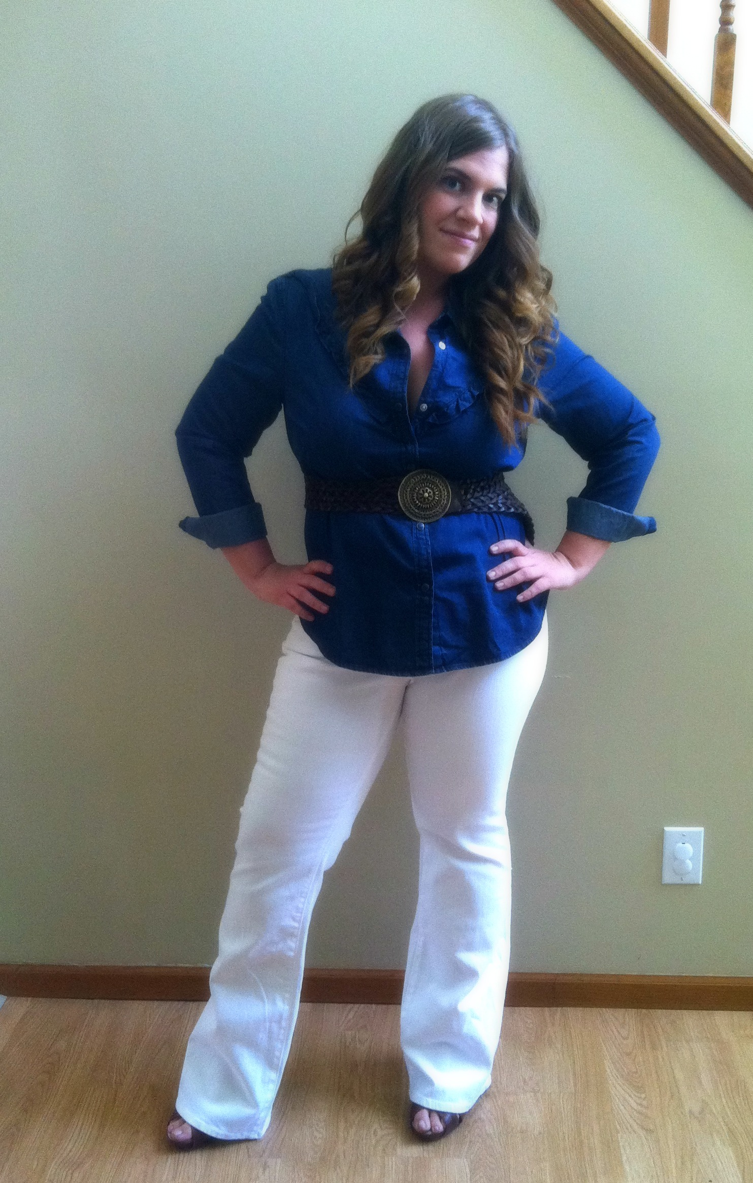 Outfit of the Day: White Jeans