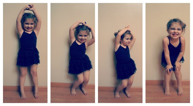 Gigi Mustache Ballet Collage