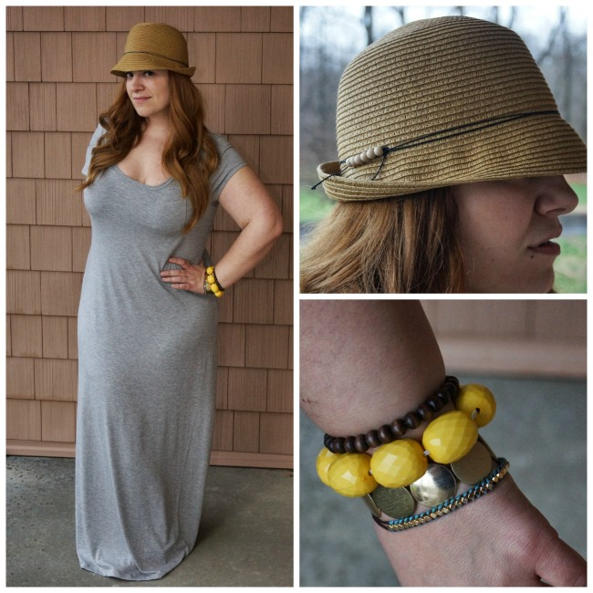 Maxi Dress with Fedora