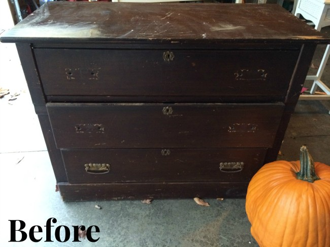 Refinished Entry Dresser