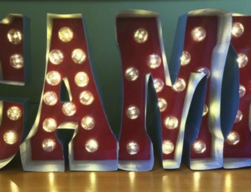 DIY Marquee Camp Letters